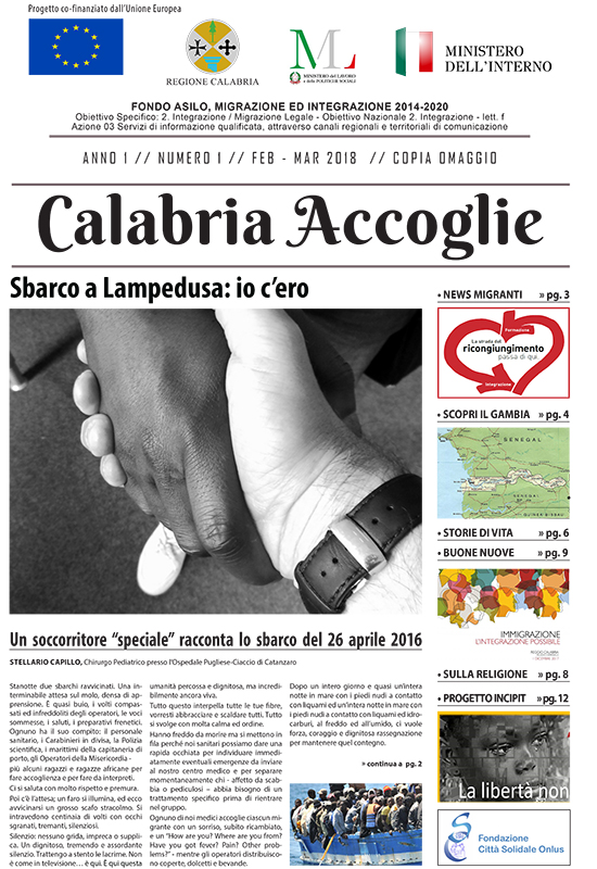 Calabria Accoglie Primo Numero Feb Mar 2018 1
